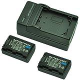 MP power @ 2X Reemplazo Li-ion batería NP-FH50 NP FH50 FH40 NP-FH40 H-TYPE 1080mah 7,4V + cargador para Sony DSLR A230, A290, A330, A380, A390, Cybershot DSC-HX1, DSC-HX100V, DSC-HX200V Digital Camera & camcoder Handycam HDR Series HDR-XR105, XR200, XR500, XR520, SR5, SR7, SR8, SR10, SR11, SR12, CX6, CX11, CX505, CX520, CX105, TG3, UX3, UX7, UX19, HC3, HC5, HC7, HC9 + DCR-SR30, SR32, SR33, SR35, SR37, SR50, SR52, SR55, SR57, SR70, SR72, SR75, SR77, SR90, SR190, S210, SR290, SX30, SX50, DCR Series DCR-DVD92, DVD105, DVD106, DVD109, DVD110, DVD150, DVD202, DVD203, DVD205, DVD304, DVD306, DVD310, DVD403, DVD404, DVD405, DVD406, DVD410, DVD450, DVD505, DVD506, HC18, HC19, HC20, HC22, HC24, HC27, HC30, HC32, HC35, HC37, HC39, HC40, HC42, HC44, HC45, HC46, HC47, HC51, HC62, HC85, HC94, HC96, SR45, SR46, SR65, SR85, SX33, SX45