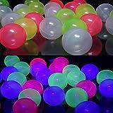 100 Bällebad Bälle Schwarzlicht aktiv 8cm UV