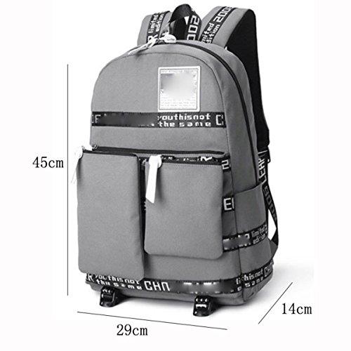 Herren Rucksack Multifunktionstaschen Oxford Rucksack Aufbewahrungsbeutel Mit Mehreren Fächern Darkblue