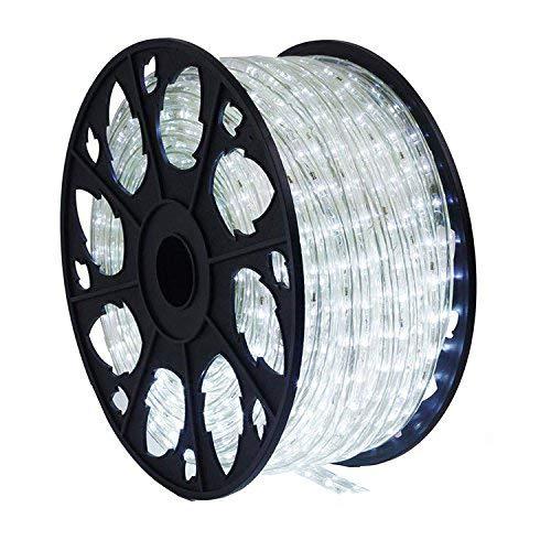 20m 480 LED Lichterschlauch Lichtschlauch weiß - Innen- und Außenbereich - energiesparende Leucht-Dekoration für Garten Fest Weihnachten Hochzeit