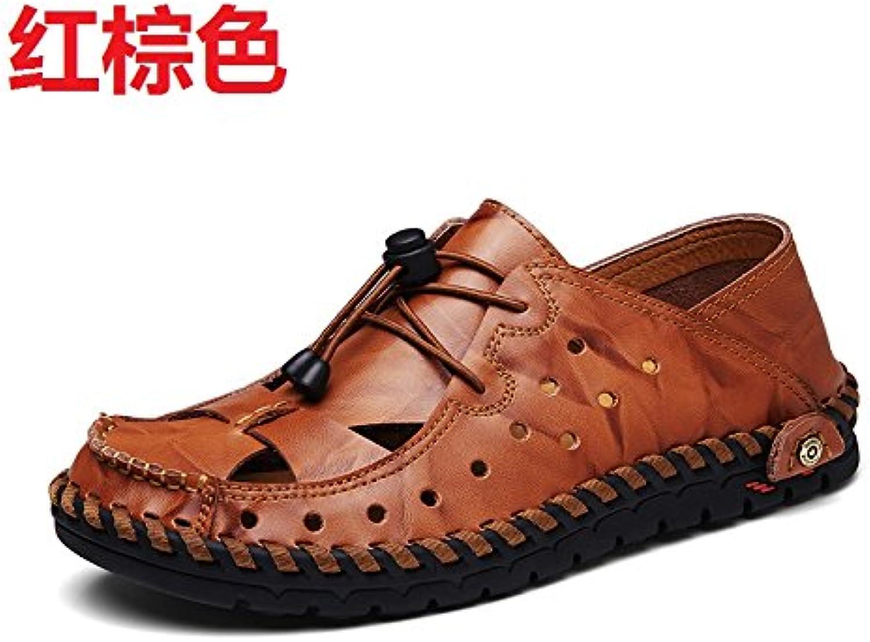 xing lin Herren Sandalen Der Sommer Sandalen Männer Hohlen Leder Leder Outdoor Legere Schuhe Männer Tide Schuhe