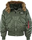 Alpha Industries Herren Daunenjacke Mantel 45 P Hooded