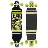Osprey Twin Tip - Longboard Unisex, Unisex Adulto, SK0008, Negro/Verde, 99 x 23 cm