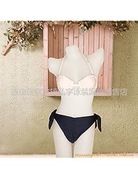 La manifestación de las cómodas bikini _ también es de baja altura, playa bañador puntos reflejan la generación...