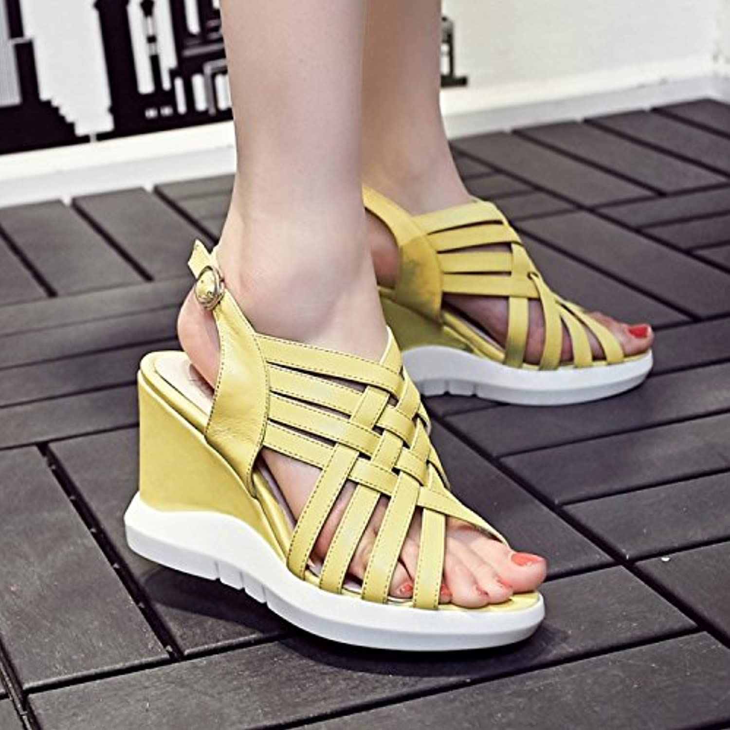 cbc6876431bb Female Cow Face with a Combination of Wedge Sandals Fashion Fashion Fashion  Female Sandals B0752VKK8S Parent