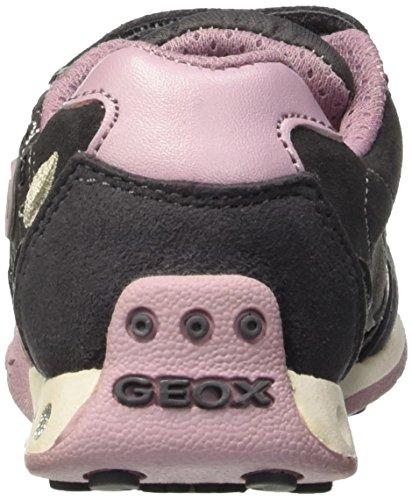 Geox Jr New Jocker Girl C, Scarpe da Ginnastica Basse Bambina Grau (DK GREYC9002)