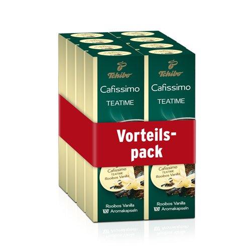 Tchibo Cafissimo TEATIME Rooibos Vanilla, 80 Bio-Tee-Kapseln, Großpackung