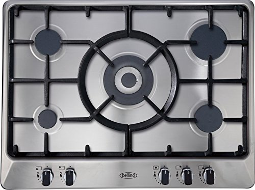 Belling GHU70GC – Plate (Built-in, Electric Induction, Ceramic, Rotary, 68 cm, 50 cm Stainless Steel
