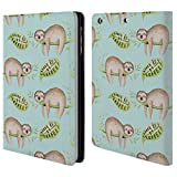 Head Case Designs Offizielle Kristina Kvilis Faultier 2 Tiere Brieftasche Handyhülle aus Leder für iPad Mini 1 / Mini 2 / Mini 3