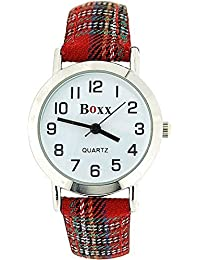 Boxx f1545t.16Fabric Strap Wrist Watch–Red