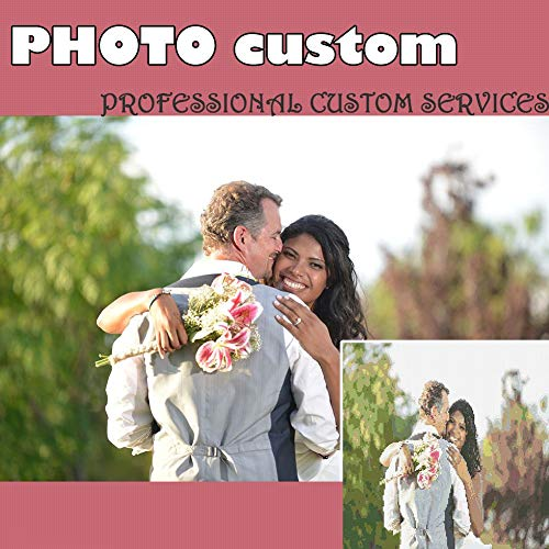Haz tu propio kit de pintura de diamantes personalizable para decoración del hogar, regalo de boda, Round Drill 19.7x19.7in