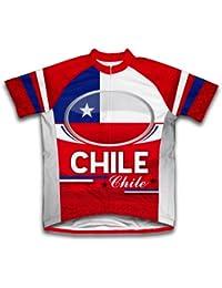 ScudoPro Chile Maillot de Ciclismo Manga Corta para Hombre -