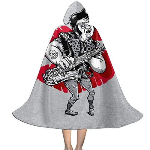 NUJSHF Rocky Horror Picture Show Eddie Unisex Kapuzenumhang Cape Halloween Weihnachten Party Dekoration Rolle Cosplay (Rocky Hunde Kostüm)