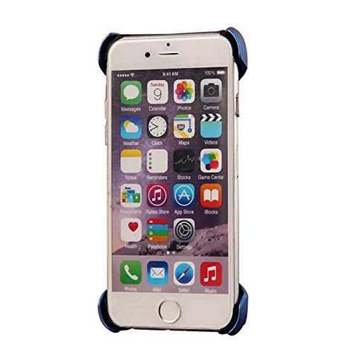 iPhone 6Plus Coque de haute qualité en plastique ABS Coque pour iPhone 6Plus 14cm avant avec stylet/film de protection d'écran transparent/Support bleu