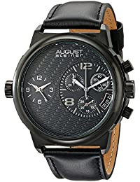 August Steiner Reloj con movimiento cuarzo suizo Man AS8151BK 50 mm