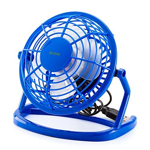 Preisvergleich Produktbild Desktop Ventilator, iKross Mini USB Lüfter 360Drehbar Fan mit An / Aus-Schalter - Blau