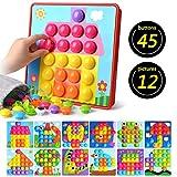 Gaoyong Kinder Buntes Steckspiel,Lernspielzeug Geschenke ,Mosaik Steckspiel für Kinder ab 2 Jahre,Kinderspielzeug Mosaik Steckspielzeug ,Pädagogische Baustein Sets