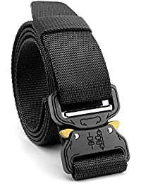 STAY GENT Tactical Belt Cinturones tácticos militares durables de la cobra con la hebilla ajustable del metal para la seguridad de la caza, entrenamiento, ejército, uso ocasional