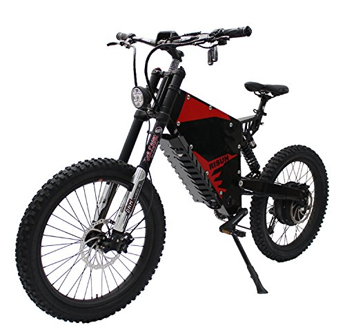HalloMotor FC-1 Powerful 72V 3000W Electric Bicycle eBike Mountain with 72V 35Ah Li-ion Samsung 35E Cells with 70/100-19 Off-Road Tire