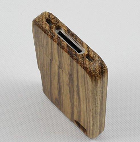 SunSmart Einzigartigen, handgefertigten Naturholzhartholzhülle für das iPhone 4 4S (bunte Streifen) zebrawood