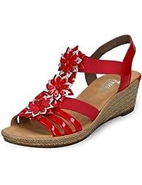 Suchergebnis Schuhe FürRote Rieker Auf Sandaletten yvIf76gYb