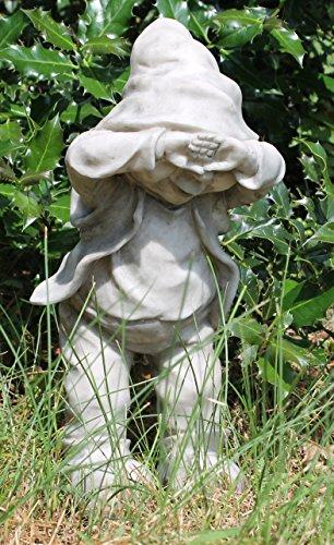 Dekofigur Wichtel Gnom Granit look Gartenfigur 32 cm Gartenzwerg Gartendekoration - 6