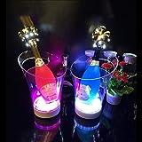 GWM Seau à Glace, Seau à Champagne coloré, Barre de Charge colorée Creative Creative Cooler Bucket Light Barket, Baril de...