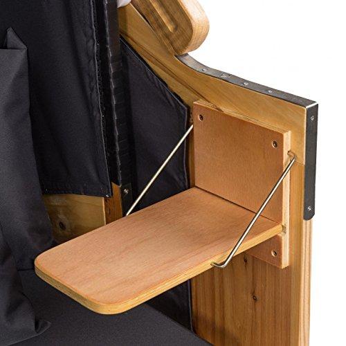 Strandkorb Deluxe Polyrattan Sylt Ostsee Volllieger inkl. 6x Kissen XXL160cm Grau Unifarben - 5