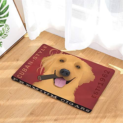 LYJZH Badematte Soft Weicher Badezimmerteppich Badvorleger rutschfeste Anti Rutsch waschbare Badematte Bodenmatte Text Hund Saugmatte Farbe15 50 * 80cm -
