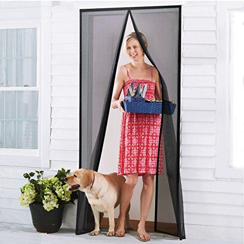 Homitt Insektenschutzvorhang Tür, Fliegengitter Magnetvorhang, Glasfaser, magnetischer Türvorhang, Fliegengitter Tür mit Magnetverschluss 90*210cm für Wohnzimmertür, Balkontür, Schiebetür, Ohne Bohren