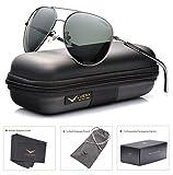 LUENX Sonnenbrille Herren Aviator Polarisiert mit Etui - UV 400 Schutz...