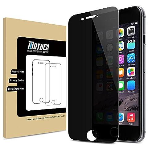 Mothca iPhone 6 6S Privacy Anti-Spy Verre Trempé Complet protection d'écran Film Ballistic Protection écran 0.3mm 9H Dureté Anti Brisera Anti Scratch,Anti-Fingerprint,Bubble-Free comme Black Mirror(iPhone 6