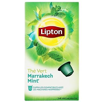 Lipton Thé Vert Marrakech Mint - 40 Capsules Compatibles avec le Système Nespresso (Lot de 4X10)