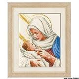 Vervaco PN-0148524 Ver - Kit per Punto Croce con Tela Aida Raffigurante Maria e Gesù