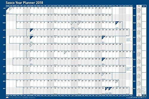 Sasco 2018 Original Year Planner Kit, 915 x 610 mm - Unmounted