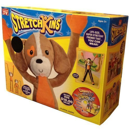 Strecthkins Stretchkins Dog Life size Plush Toy That You Can Play, Dance, Exercise and Have Fun With