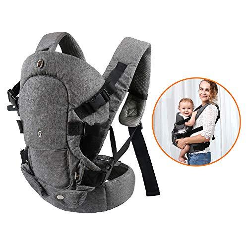 Xatan Baby-Tragetasche, alle Trageposition, für Neugeborene und Kleinkinder, ergonomische Tragetasche mit weichem, atmungsaktivem Air-Mesh und Allen verstellbaren Schnallen.