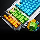 Generic White : Mechanical Keyboard 104 ABS Keycap Pink Orange Blue Black White Color Translucent Keypress