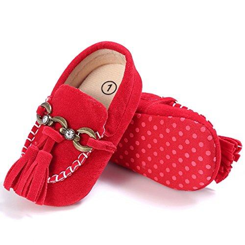 Etrack-Online  Baby Loafers, Baby Jungen Lauflernschuhe Rot