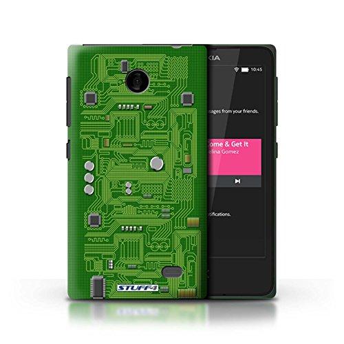 Kobalt® Imprimé Etui / Coque pour Nokia X / Rouge conception / Série Circuit Board Vert