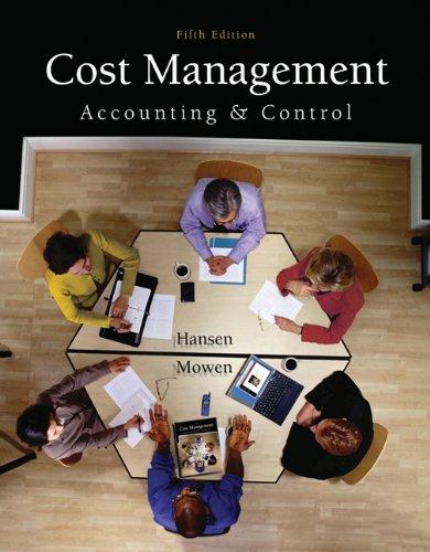 Cost Management Acct and Cont por MOWEN