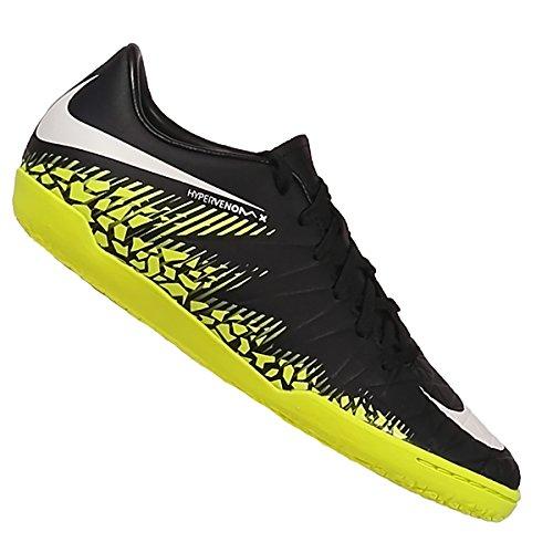 Nike Unisex-Kinder Hypervenom X Phelon II IC Fußballschuhe, Schwarz (Black/White-Volt-Paramount Blue), 37.5 EU