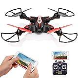 DoDoeleph Drohne mit HDKamera, SYMA X56W FPV Faltbar RC Drone Fernbedienung Quadcopter App Steuerung Live Video Tragbar Hubschrauber, Automatische Höhenhaltung, 3D Looping