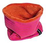 Kinder Kurz-Loop Schal 'Warm Stripes' | brit-M-kids | Handarbeit aus Deutschland (48-52 cm (1-3 Jahre), Pink/Orange)