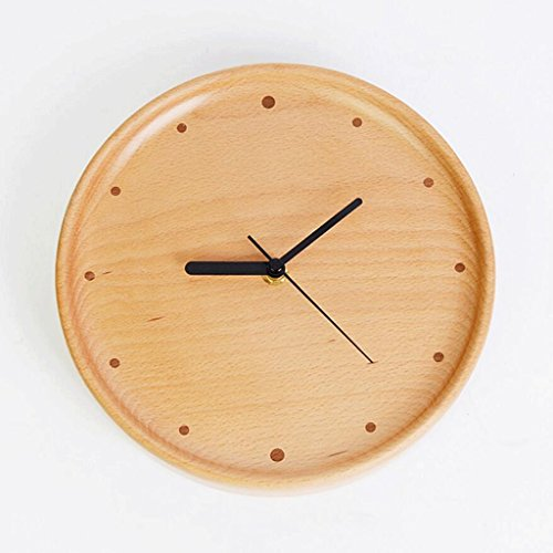 GAOLILI Buche Wanduhr Holz Dekorative Uhren Wohnzimmer Stumme Wanduhr ( Farbe : A )