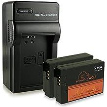 Cargador + 2x ExtremeWolf Batería LP-E12 para Canon EOS 100D | EOS M | EOS Rebel SL1