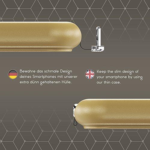 Urcover® Apple iPhone 6 / 6s Qi FAST CHARGING Backcase | Kunststoff Hülle in Braun | Schutz-hülle Ladeempfänger Slim Wireless Charging für iPhone 6 / 6s kabellos laden Gold