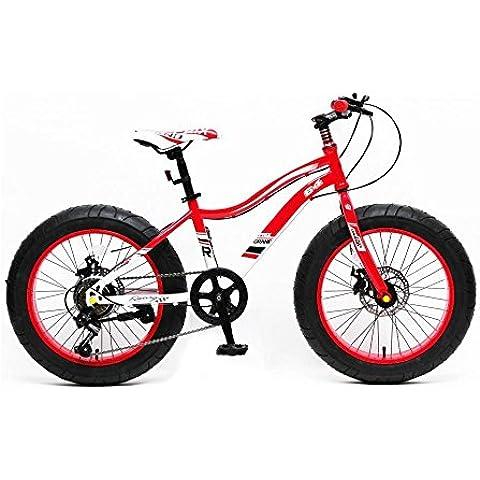 Reset - Bicicletta Fat Bike Grand Prix 20 Rosso/Bianco