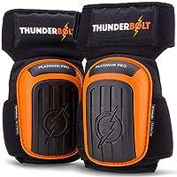 Rodilleras profesionales de Thunderbolt para trabajo, construcción, jardinería con un cómodo cojín de gel y fuertes correas antideslizantes