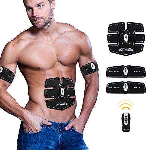 Elettrostimolazione Muscolari-Training Donna/Uomo Addome/Braccia/Vita Massaggio-attrezzo Wireless Batteria Carica--03(3 Apparato)-bianca